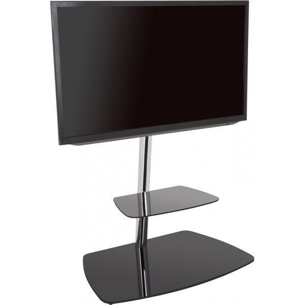 """AVF Iseo Cantilever TV Stand for up to 70\"""" TVs - Black & Silver"""