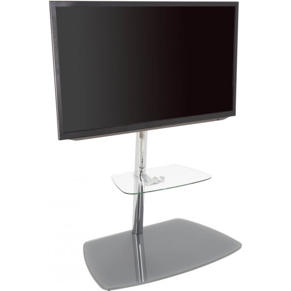 "AVF Iseo Cantilever TV Stand for up to 70"" TVs - Clear & Silver"