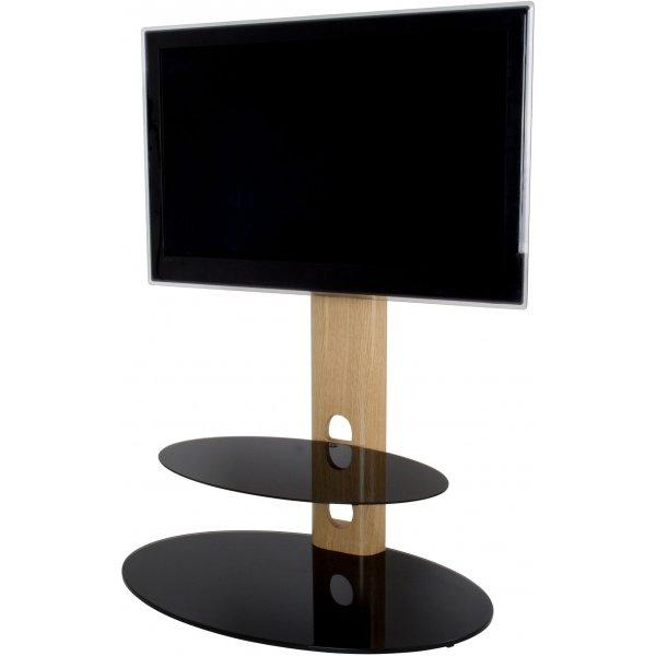 """AVF Sandringham Cantilever TV Stand for up to 60\"""" TVs - Oak & Black"""
