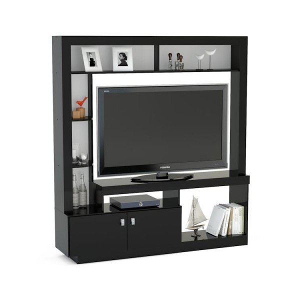 Mason and Bailey Darwin Black Entertainment Unit For TVs up to 47""