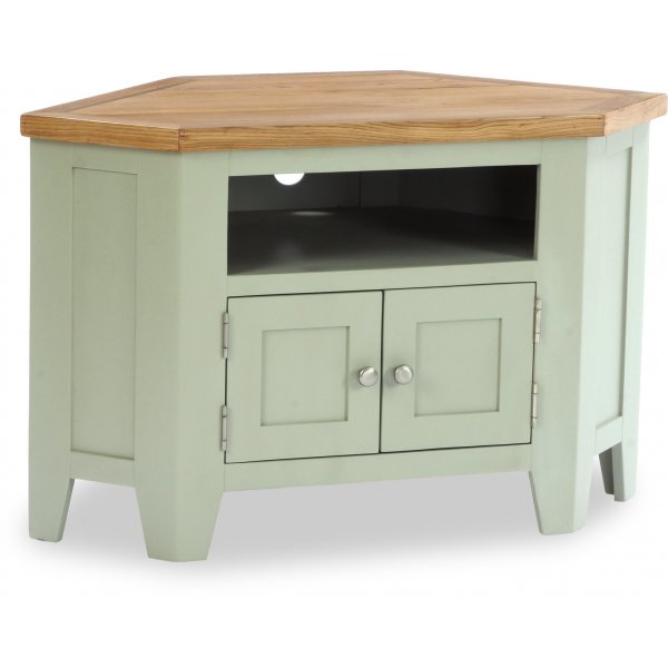 """Besp-Oak Vancouver Expressions 2 Door Corner TV Stand for up to 42\"""" TVs - French Grey"""