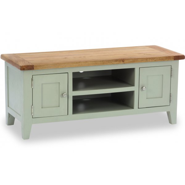 """Besp-Oak Vancouver Expressions 2 Door 1 Shelf TV Stand for up to 50\"""" TVs - French Grey"""