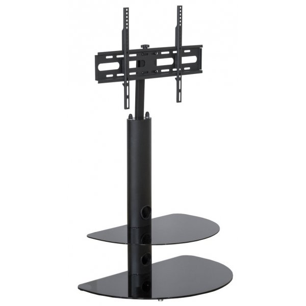 """MMT CB35 2 Shelf Black TV Stand with Bracket for up to 50\"""" TVs"""