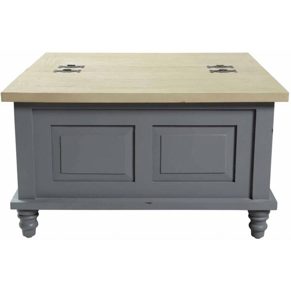 Mason and Bailey Thunder Grey Square Trunk Coffee Table