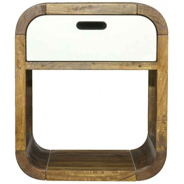 Mason and Bailey Tropic Side Table with White Drawer