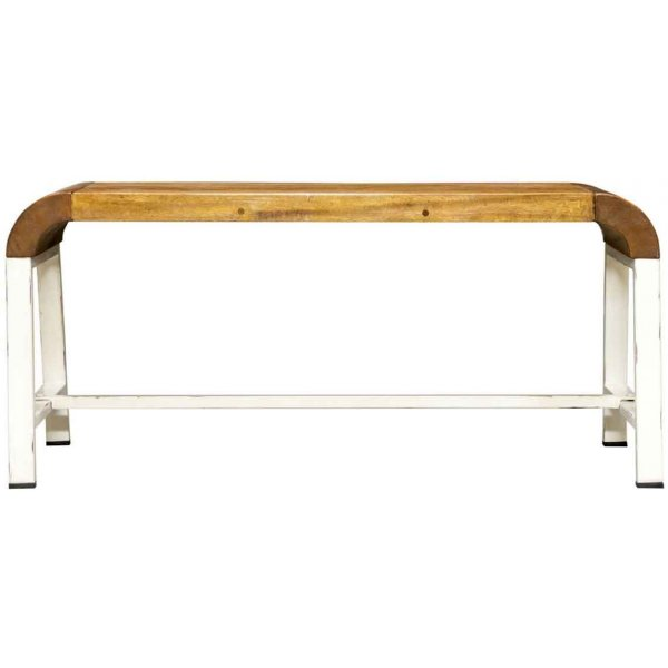 Mason and Bailey Tropic Bench with White Legs