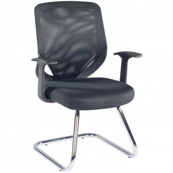 Alphason Atlanta Mesh Back Visitor Chair - Black