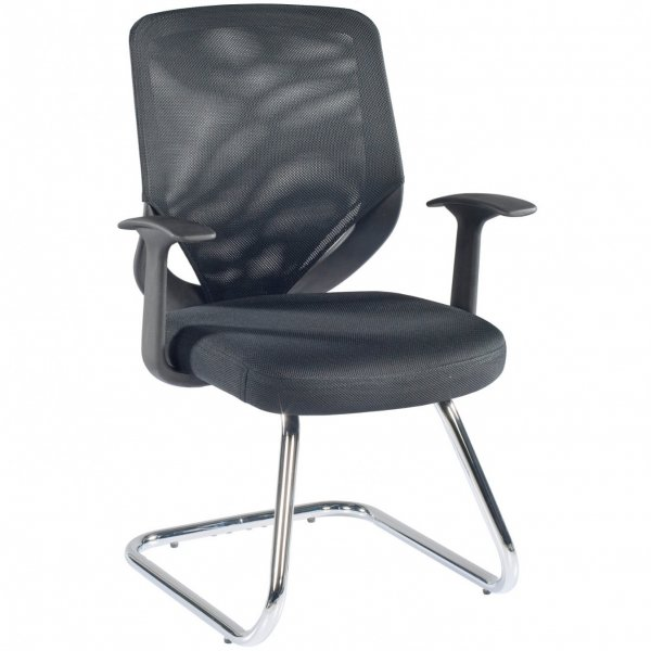 Alphason Atlanta Mesh Back Visitor Chair - Black