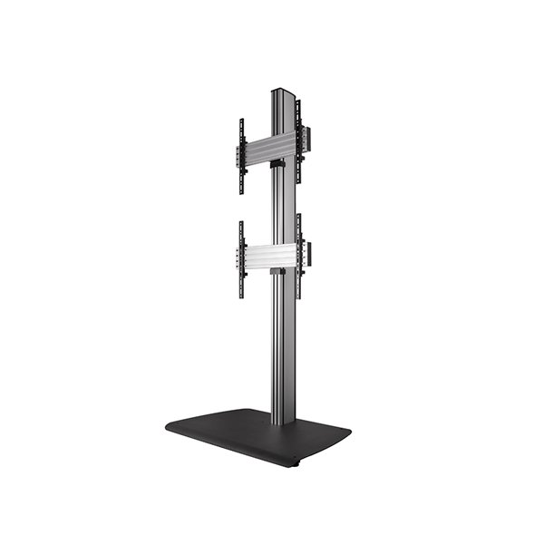 B-Tech BTF841/BS Universal Dual Stack Flat Screen Floor Stand - 1.8m
