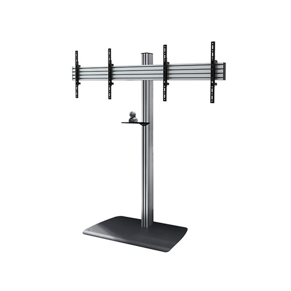 B-Tech BTF844/BS Universal Twin Screen Video Conferencing Stand - 1.8m
