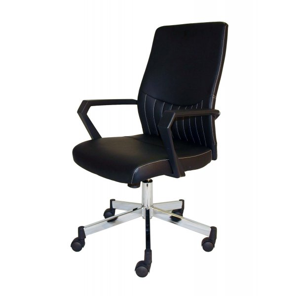Alphason Brooklyn Faux Leather Operator Desk Chair - Black