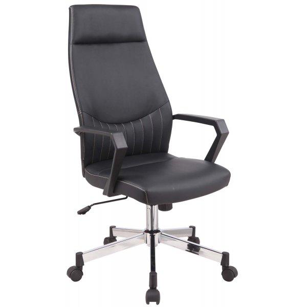 Alphason Brooklyn High Back Faux Leather Operator Desk Chair - Black
