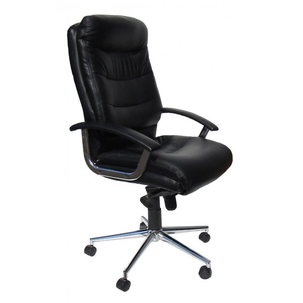 Alphason Empire Soft Feel Leather Executive Desk Chair - Black