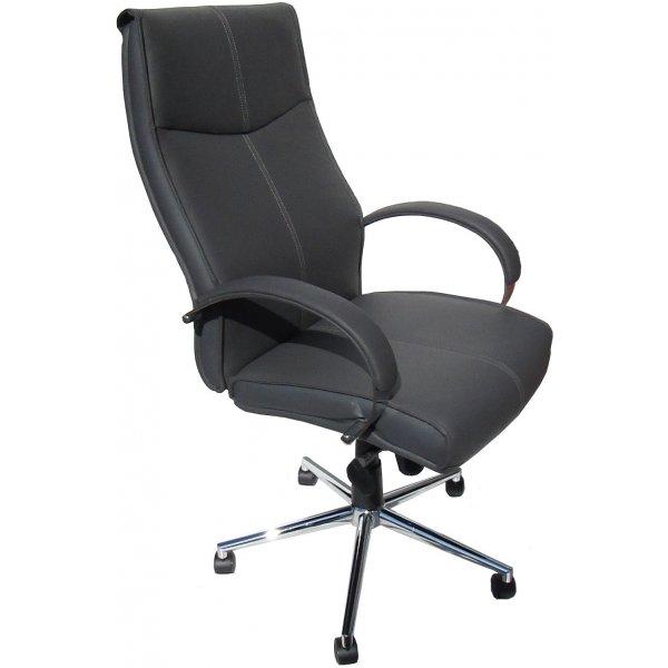 Alphason Verona Soft Feel Leather Executive Desk Chair - Grey