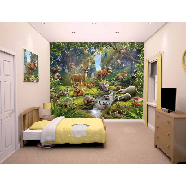 Walltastic Animals of the Forest 12 Piece Mural