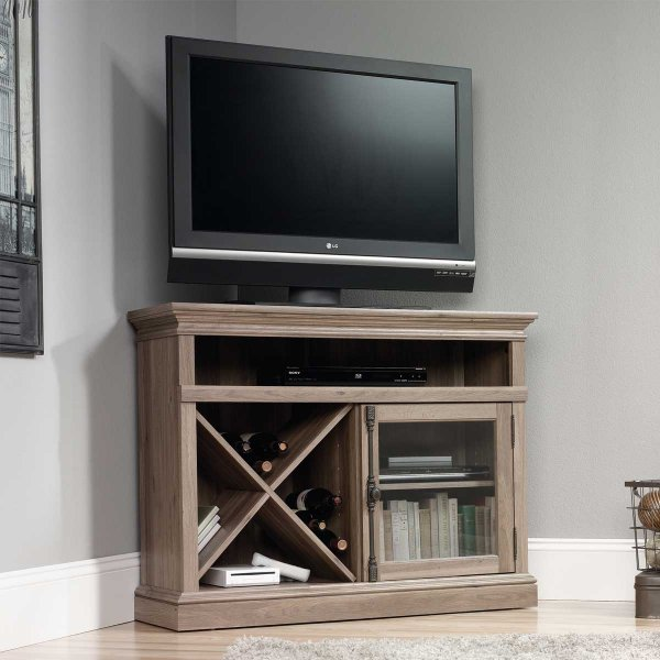 """Mason and Bailey Trent Corner Oak TV Stand for up to 42\"""" TVs"""