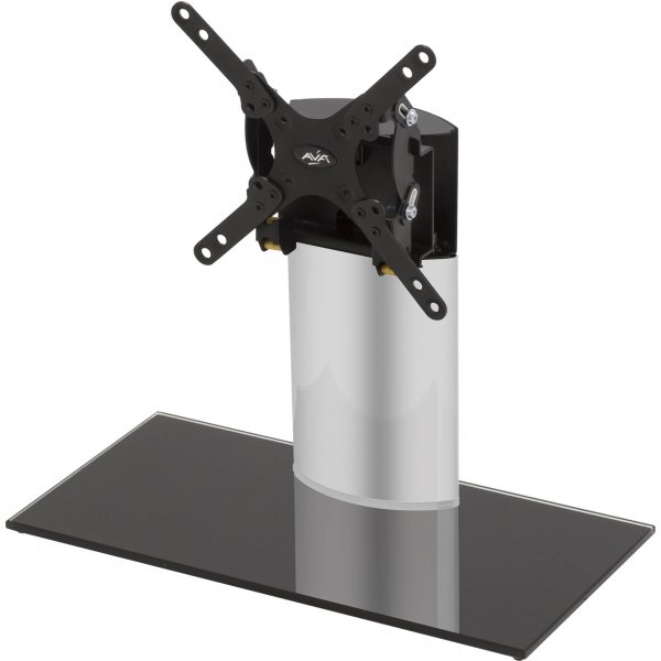 AVF Adjustable Tilt and Turn Table Top Stand For Upto 32 TVs - Black & Silver