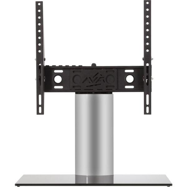 "AVF Adjustable Tilt and Turn Table Top Stand For Upto 55\"" TVs - Black & Silver"