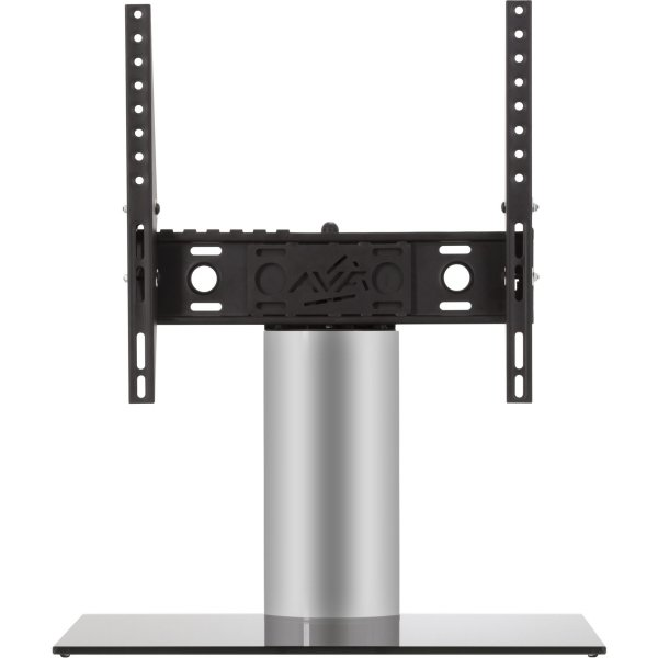 "AVF Adjustable Tilt and Turn Table Top Stand For Upto 55"" TVs - Black & Silver"