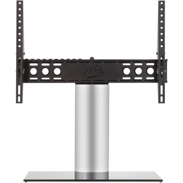 """AVF B601BS Adjustable Tilt Table Top Stand For Up to 65\"""" TVs - Black & Silver"""