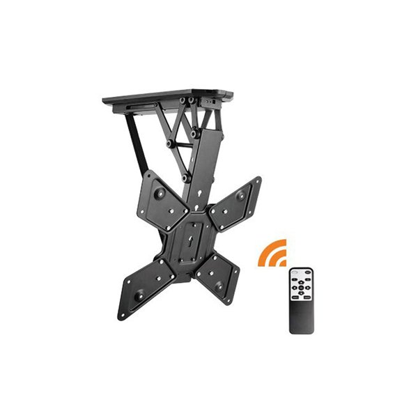 """Lithe Audio Remote Control Motorised Flip Down TV Ceiling Mount - For Up To 55\"""""""
