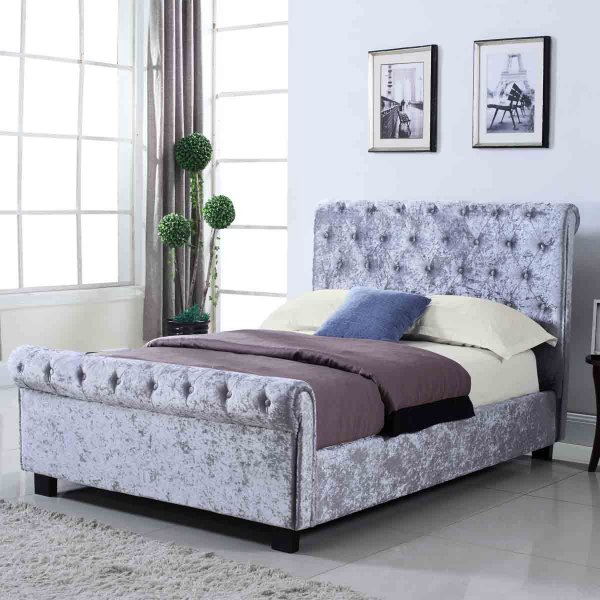 Ultimum Whitford Silver Ottoman Double Bed