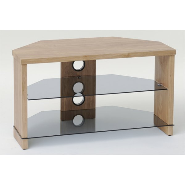 """TNW Montreal Oak Corner TV Stand for up to 40\"""" TVs"""