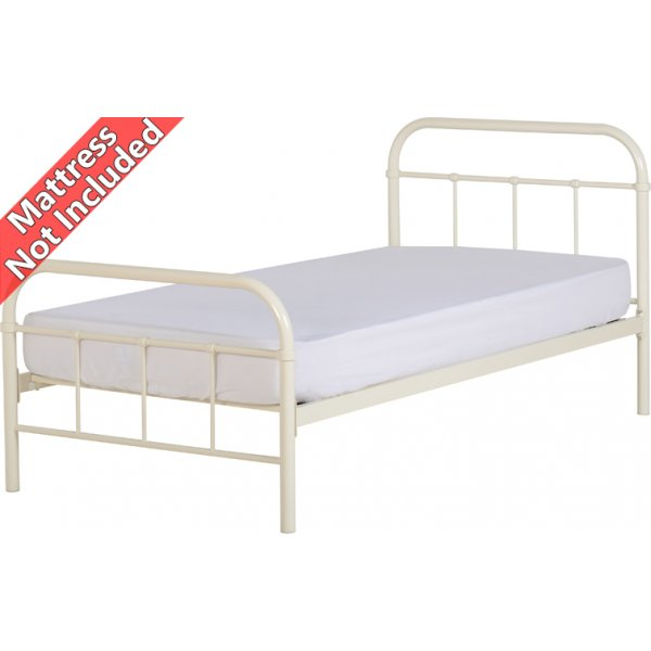 Valufurniture New Jersey 3\' Single Bed - Cream