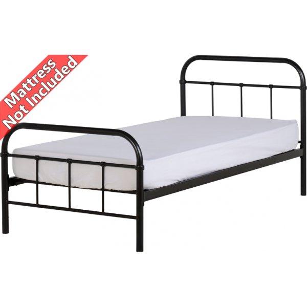 Valufurniture New Jersey 3\' Single Bed - Black