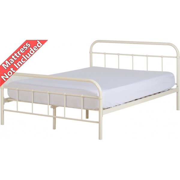 Valufurniture New Jersey 4\'6 Double Bed - Cream