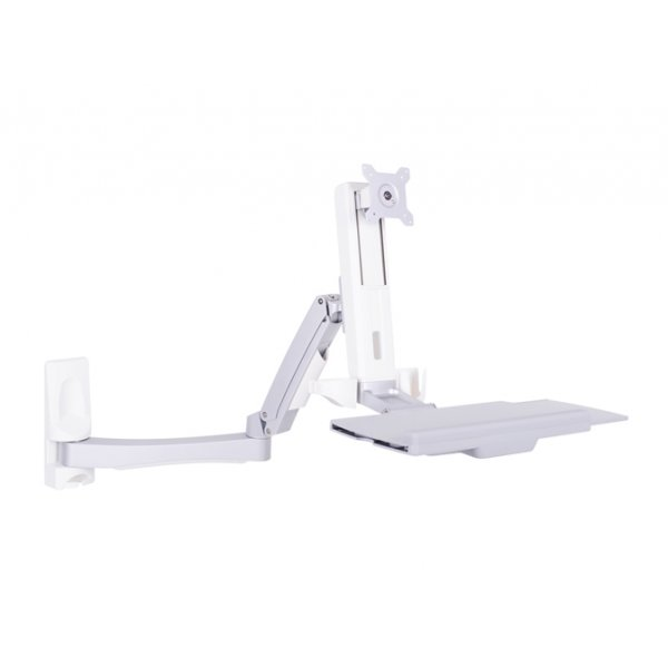 """Multibrackets M Workstation Arm Single Extended Monitor Stand For 15 - 27\"""" - White"""