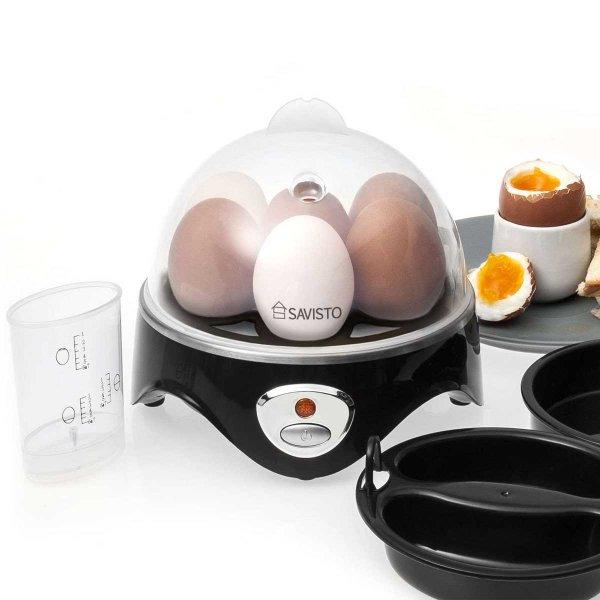 Savisto 3 in 1 Egg Boiler, Poacher and Omelette Maker