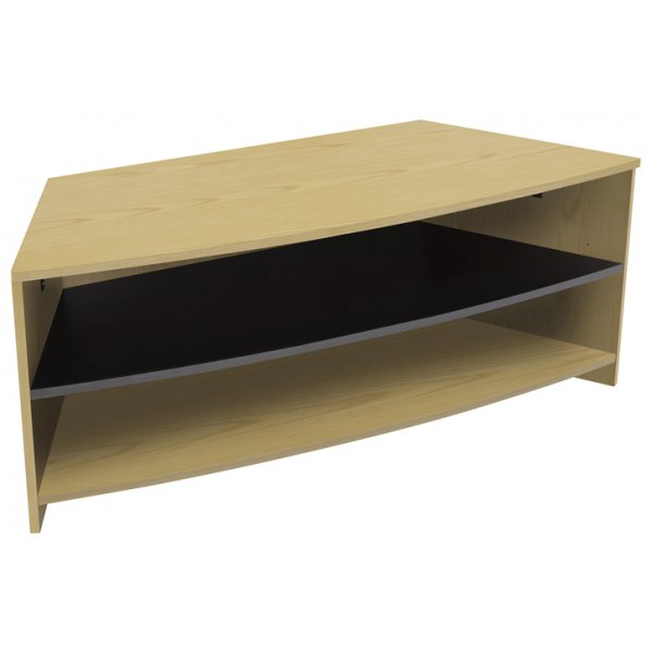"AVF Reflections Dartmouth Corner TV Stand For Up To 60"" - Oak/Black"