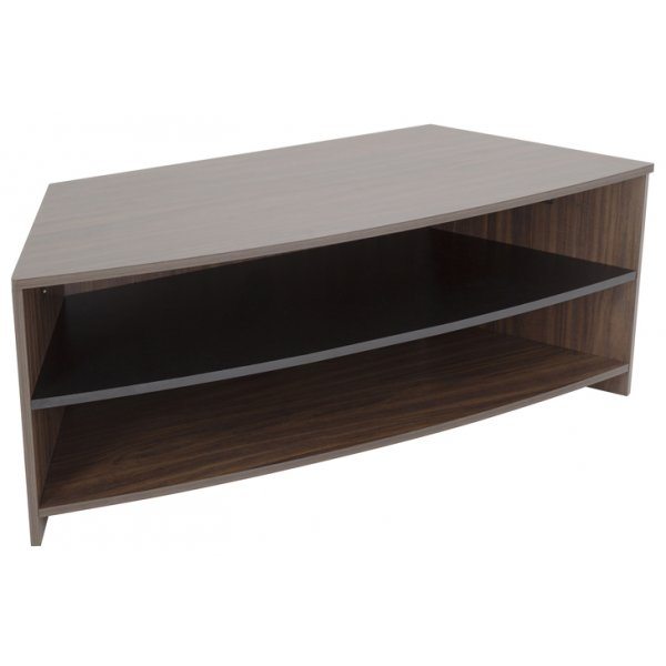 "AVF Reflections Dartmouth Corner TV Stand For Up To 60"" - Walnut/Black"