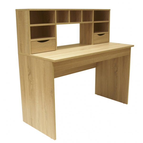 Alphason Albion Traditional Light Oak Work Station