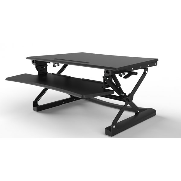 Core Products Sit-Stand Workstation - Large Black