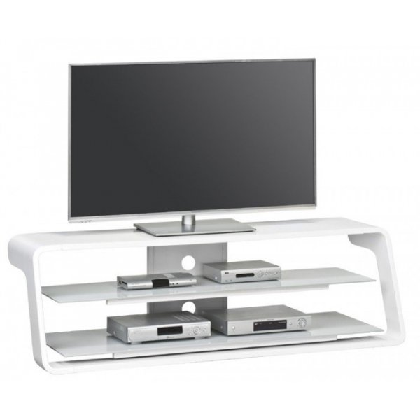 Maja 7720 5605 High Gloss White Tv Stand For Screens Up To 65