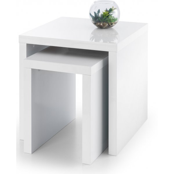 Mason and Bailey Granada White High Gloss Nest of 2 Tables