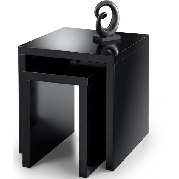 Mason and Bailey Granada Black High Gloss Nest of Tables