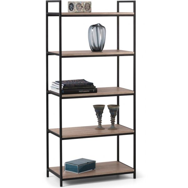 Mason and Bailey Hamilton Oak Effect Tall 5 Shelf Bookcase