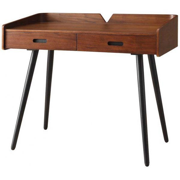 Jual Vienna Wooden Desk with 2 Drawers - Walnut