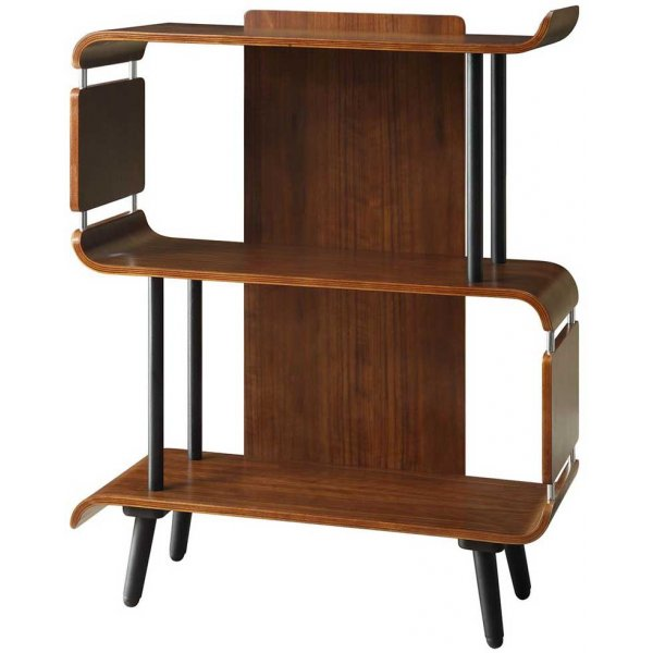 Jual Vienna 3 Shelf Short Bookcase - Walnut