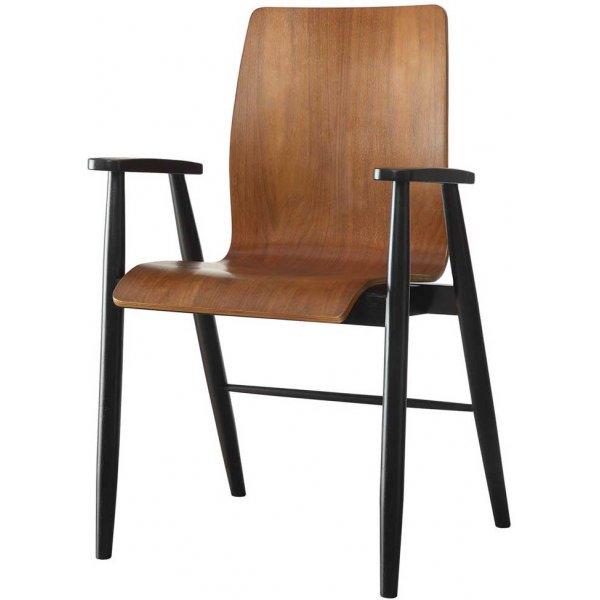 Jual Vienna Wooden Office Chair - Walnut