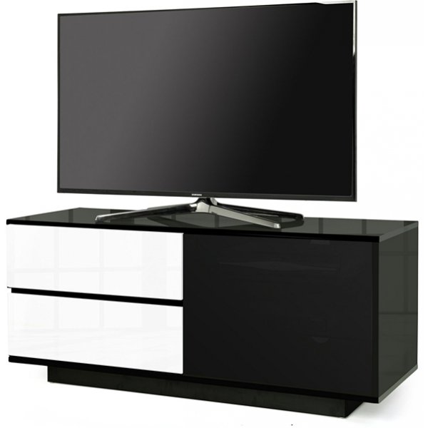 """MDA Gallus Ultra Gloss Black and White TV Cabinet For 55\"""" TV\'s"""