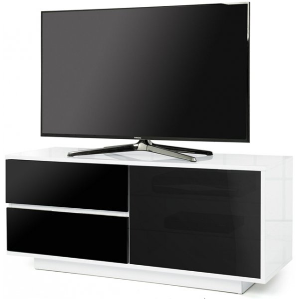 "MDA Gallus Ultra Gloss White and Black TV Cabinet For 55"" TV\'s"