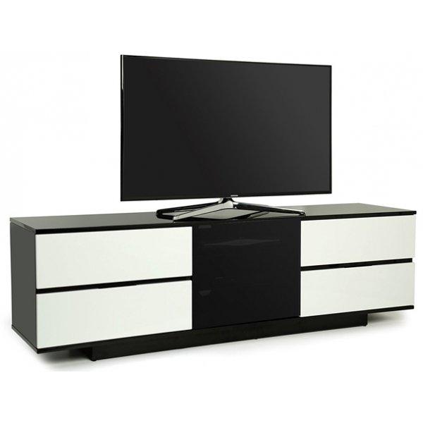 """MDA Avitus Ultra Gloss Black and White TV Cabinet For 65\"""" TV\'s"""