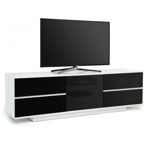"""MDA Avitus Ultra Gloss White and Black TV Cabinet For 65\"""" TV\'s"""