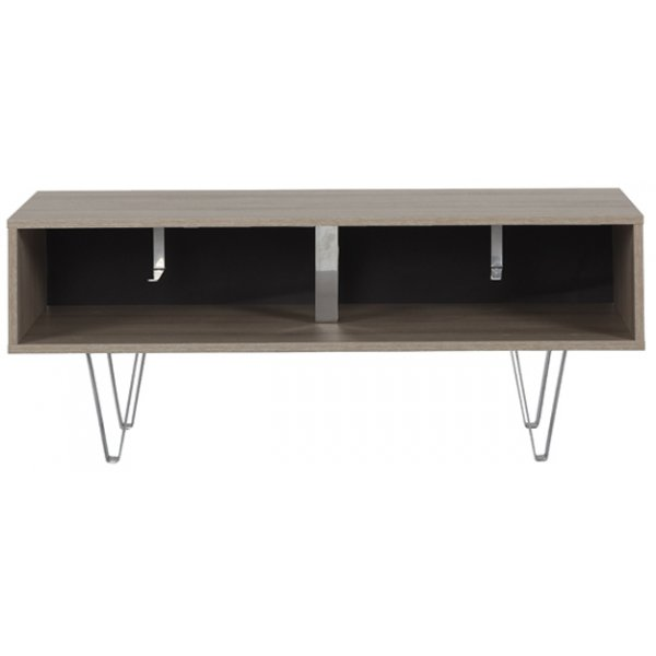 Off The Wall Oak Chevron 1100 Oak TV Stand for up to 50""