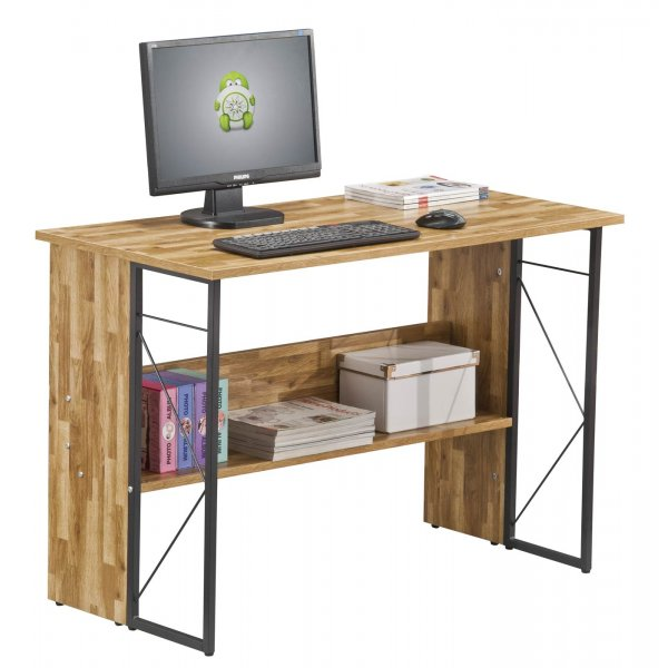 Alphason Rhodes AW3524 Walnut Effect Desk
