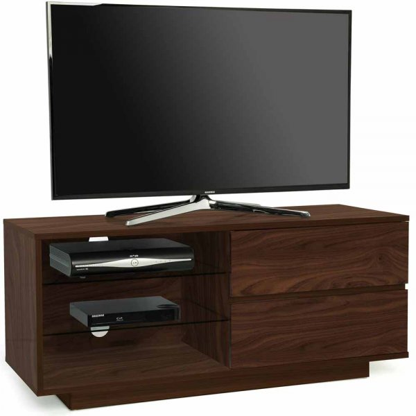 """MDA Gallus Walnut TV Cabinet for up to 55\"""" TVs"""